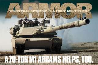MILITARY POSTER ~ M1 ABRAMS TANK FORCE MULTIPLIER Army