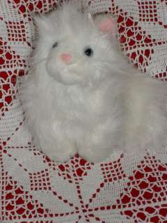 Ganz Webkins stuffed plush WHITE PERSIAN CAT KITTEN