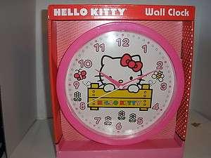 HELLO KITTY WALL CLOCK QUARTZ ACCURACY *NEW*