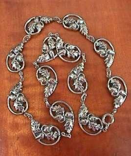 Vtg DANECRAFT Sterling Silver 925 Acorn Link NECKLACE