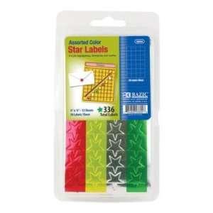 BAZIC Assorted Color Foil Star Label (336/Pack) Case Pack