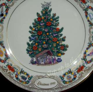 Lenox Christmas Trees Around World Plate MEXICO 1999