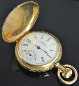 Watch Company & Waltham ladies pocket watch crafted from solid 14K