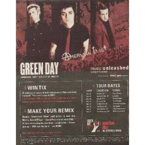 Green Day American Idiot Newspaper Poster Ad 2004