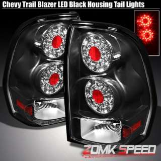 02 09 CHEVY TRAIL BLAZER BLACK LED TAIL LIGHTS TAILLAMP LEFT+RIGHT
