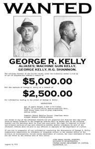 Machine Gun Kelly FBI Wanted Poster #1   1933