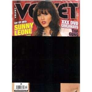 VELVET MAGAZINE SEPTEMBER 2011 SUNNY LEON 9/11: VELVET MAGAZINE