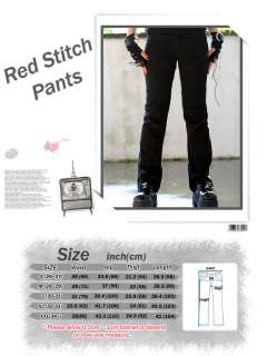 punk gothic kera visual kei emo unisex red stitch pants