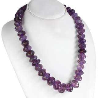 TOP QUALITY SPARKLING 901.00 CTS NATURAL FACETED PURPLE AMETHYST BEADS