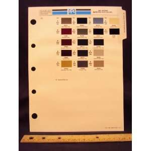 1987 87 JAGUAR IMPORT Paint Colors Chip Page Jaguar Cars LTD Books