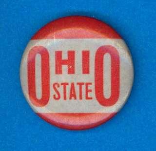 1940s Ohio State football pinback button