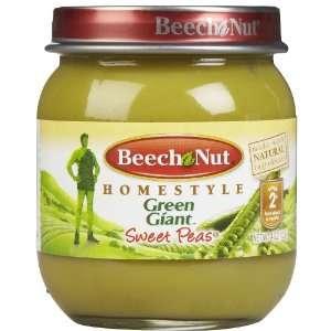 Beech Nut Stage 1 Tender Sweet Peas   12 pk  Grocery