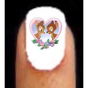 Bambi Deer Love Heart Valentines Day Nail Decal Art 20