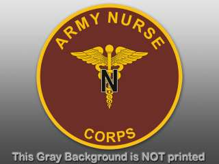 Army Nurse Corps Round Seal Sticker  decal logo nursing