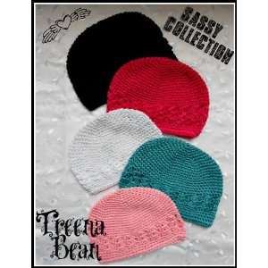 : Treena Bean Set of 5 Sassy Collection Crochet, Beanie, Kufi Hats