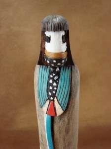 Navajo Indian Hand Carved Dawn Shalako Kachina by R Pino Native