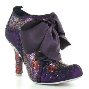 Irregular Choice Abigails Party Too Womens Sequinned 4 Eyelet Court