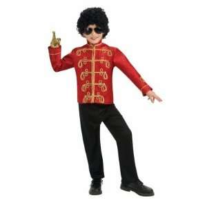 Michael Jackson Deluxe Red Military Jacket Child