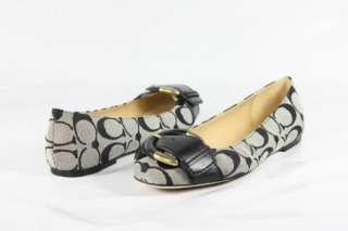 Coach Amelia Flats Womens Shoes in Black/White