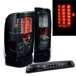 94 01 Dodge Ram LED Smoked Tail Lights + LED Brake Automotive