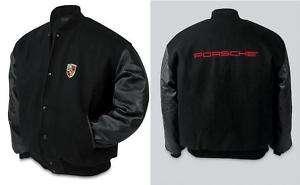 Porsche Laguna Varsity Jacket Black Sizes M L XL