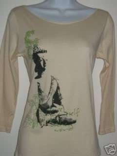 NEWTG American Apparel Buddha zen Peace shirt top yoga