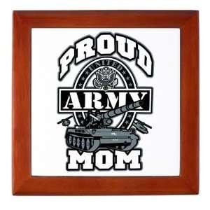 Keepsake Box Mahogany Proud Army Mom Tank