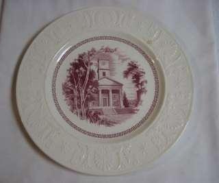 RARE WEDGWOOD AMHERST JOHNSON CHAPEL RED DINNER PLATE