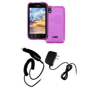 EMPIRE LG Marquee Hot Pink Poly Skin Case Cover + Car