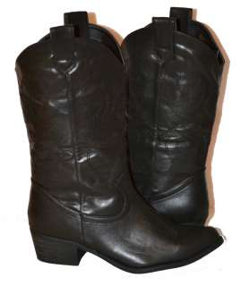 Womens Cowboy Boots in BLACK, BRAND NEW, Fast Shipping, s