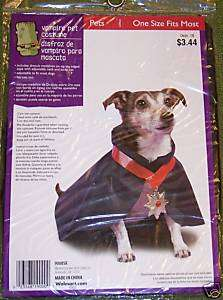 NWT PET HALLOWEEN 2 PC Vampire Pet COSTUME 1 Size