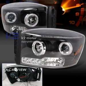 2006 2008 Dodge Ram 1500 Projector Headlight Black 2007