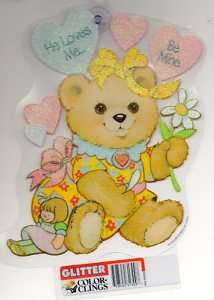 VALENTINES DAY Bear Window Color Clings