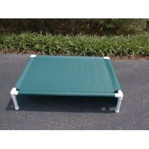 Outdoors. Cot pet dog/cat bed. 32x44x8 Forest Green