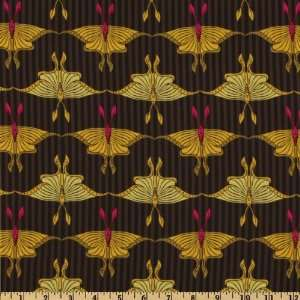 Flora And Fauna Luna Moth Mustard By The Yard: Arts, Crafts & Sewing