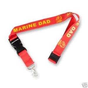 USMC MARINE CORPS DAD FATHER NEW LOGO MILITARY LANYARD