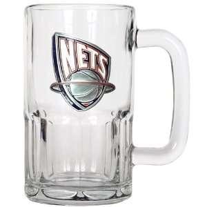 Sports NBA NETS 20oz Root Beer Style Mug   Primary Logo
