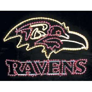 Baltimore Ravens NFL Football Rope Light