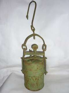 Antique Miners Carbide Lamp Lantern 19 Century