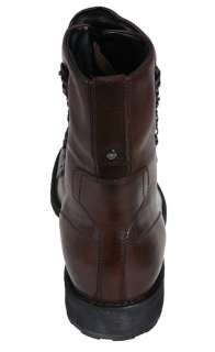 Kenneth Cole Mens Boots Night Hunt RM07497 Brown Leather Ankle Boots