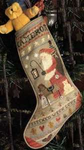 Cinnamon Stick Stocking I Counted Cross Stitch Chart
