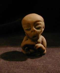LITTLE GRAY ALIEN BABY IN JAR UFO AREA 51, ALIEN FETUS, ROSWELL #89