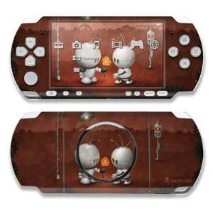 Robots In Love Design Decorative Protector Skin Decal Sticker for Sony