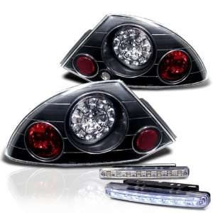 Eautolight Mitsubishi Eclipse LED JDM Black Tail Light Lamps with DRL
