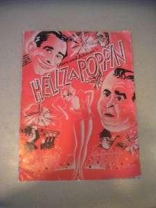 VINTAGE 1938 HELLZAPOPPIN MUSICAL BROADWAY THEATRE PROGRAM OLSEN