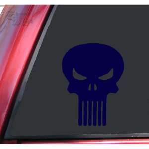 Punisher Skull Vinyl Decal Sticker   Dark Blue: Automotive