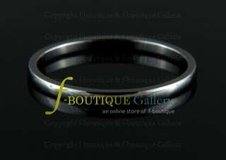 2MM TUNGSTEN CARBIDE SILVER TONE WEDDING BAND RING NEW