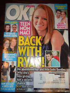 OK Magazine Teen mom Maci & Bentley back w/ Ryan 10/18