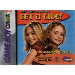 Mary Kate & Ashley   Get a Clue GBC Instruction Booklet