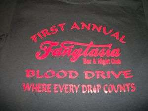 Gothic Vampire Fangtasia True Blood Drive T Shirt ST